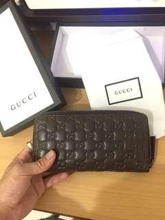 🚚 Gucci 頭層牛皮 長夾 零錢包 鈔票夾 皮夾 手拿包 Armani Ck fossil