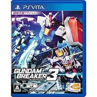 Buying gundam breaker 3 for ps vita