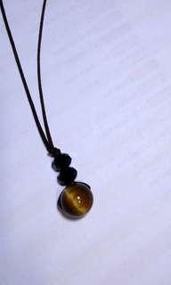 🚚 Tiger's eye Semi precious Stone Pendant
