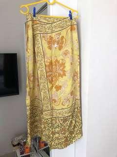 H&M yellow long skirt