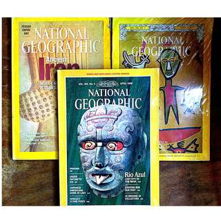 National Geographic Magazine 3-piece Set