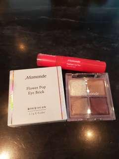 Mamonde Liptint and Eyeshadow