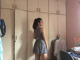 Seventyseven Zebra print peek-a-boo dress