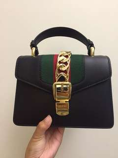 100%new 全新 正品 Gucci Sylvie mini Bag Black 新款 明星款 迷你 3-way 經典配色