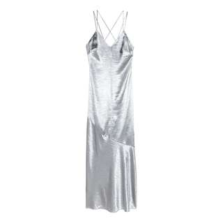 H&M SILVER METALLIC DRESS