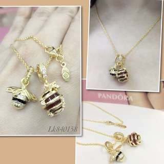 Pandora Honey and Bee Necklace