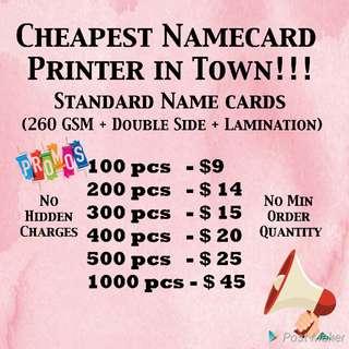 Namecards printing