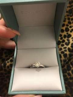 謝瑞麟1卡拉重真鑽石戒指