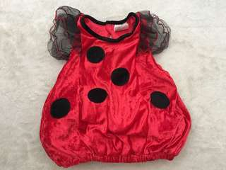 Ladybug Costume for Girls (1-2yo)