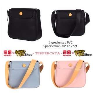 Japan Quality - Tas Selempang Sling Miniso Import Flap Crossbody Bag