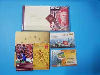 (包平郵)紀念票2套+郵票冊。清理物品騰出空間低價出售