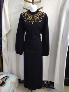 Jubah style embroidered dress