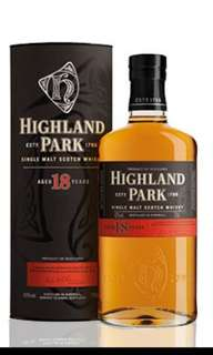 高原騎士Highland park 18年
