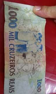 1000 Brazilia money and 1000 kwarcha zambia