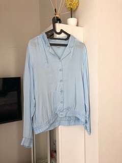 H&M baby blue top