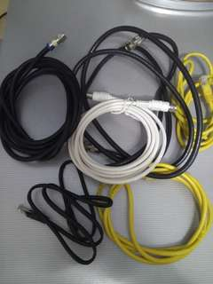 Excellent TV and Modem Cables selling cheap. $0.80