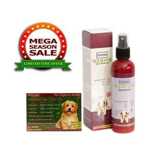 Tick Buster Fipronil Spray Treatment Anti-Galis 200ml with Madre De Cacao Soap Anti-Galis for Pets 13grams