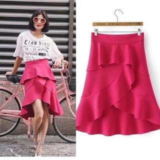 Pink Ruffled Skirt