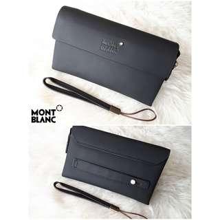 Handbag clutch Branded Import Pria Cowok Montblanc Mont Blanc Murah