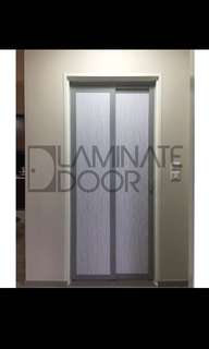 Slide and swing toilet doors / service yard / kitchen entrance