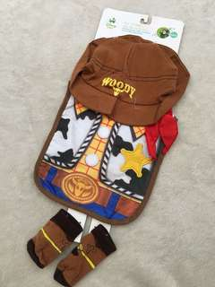 Toy Story Woody Hat, Bib and Booties Set