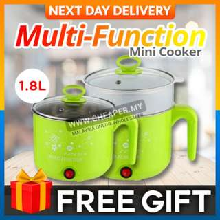 Multifunction Mini Electric Stainless Steel Hot Pot Cooker Cooking Dormitory use