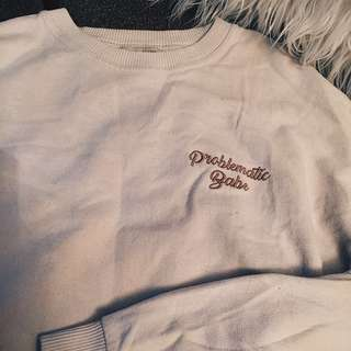 Problematic Babe Pullover by Pull and Bear