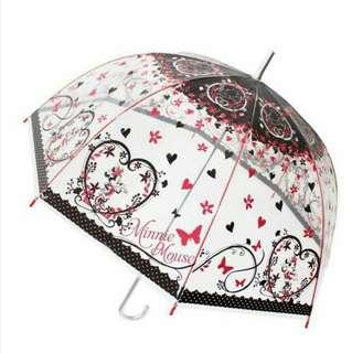 日本 迪士尼米妮長把透明傘