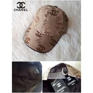 Topi fashion kulit branded import Chanel cowok cewek pria wanita murah