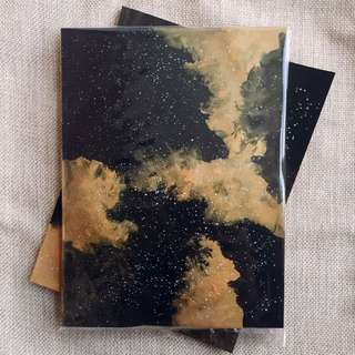 Gold Galaxy Kraft Notebook