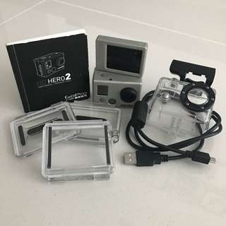 GoPro Hero 2 with LCD Bacpac bundle