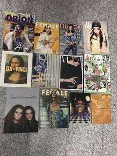 12 Fashion magazines - Chanel, LV, D&G