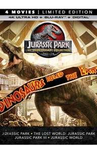 Jurassic Park Collection 4K Blu ray: 25th Anniversary Collection