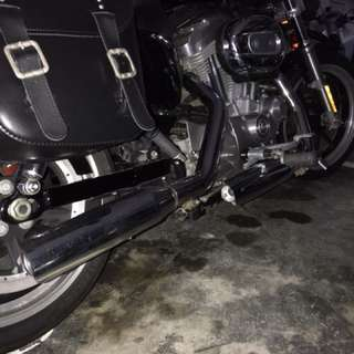 Exhaust Pipe for Harley Sportster (slip on with silencer, optional)