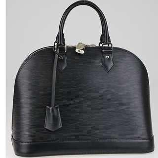 Louis Vuitton Black Epi Leather Alma MM Bag