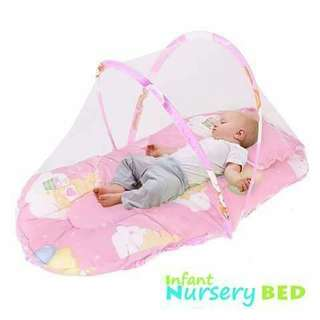 Foldable Baby Bed - PINK