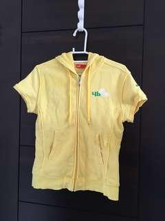 🚚 PUMA 黃色短袖連帽外套