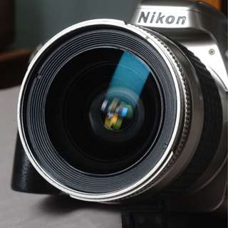 kamera analog nikon f55 lensa afd 28 80 f3.5-5.6 mulus normal tajam