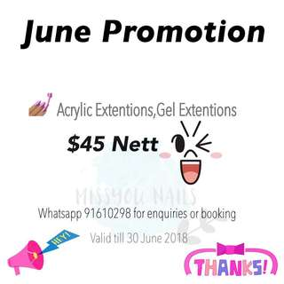 June Promotion 🤗 Home base Nail Extensions @sengkang