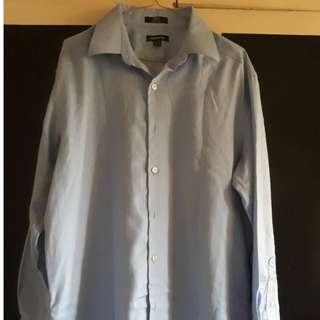 Claiborne long-sleeves light blue polo
