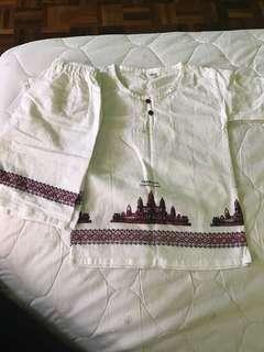 Cambodia top and pant set