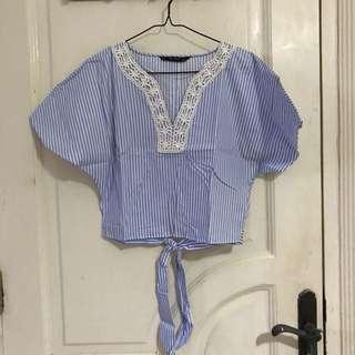 Preloved zara blouse [[Used Once]]
