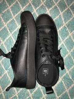 Faux leather shoes