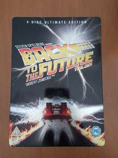 Back To The Future Trilogy Movie DVD Steelbook Collectible