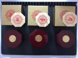 1996-1998 Lunar Series $250 Gold Proof Coin Singapore
