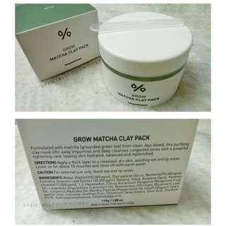 lee ji ham grow matcha clay pack