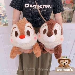 🚚 【Wenwens】日本帶回 迪士尼 奇奇 蒂蒂 花栗鼠 松鼠 絨毛 娃娃 布偶 玩偶 大小約41cm 景品 一對售價