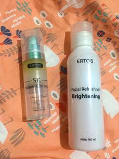 Ertos toner facial refreshner & serum kinclong