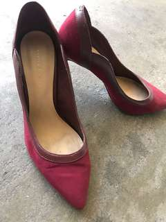 Charles and keith red heels.