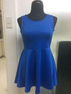 Preloved Blue Neoprene Dress